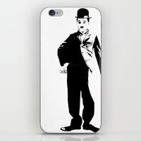 chaplin iPhone & iPod Skins featuring Chaplin by Vee Ladwa