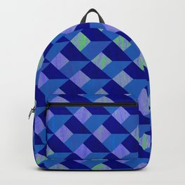 Geometric Marquetry With Variegated Marbled Colors Backpack