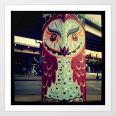 Deep Elum Owl Art Print