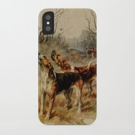 Earl, Maud (1864-1943) - The Power of the Dog 1910 (Foxhounds) iPhone Case