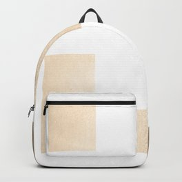 Simply Geometric in White Gold Sands on White Backpack