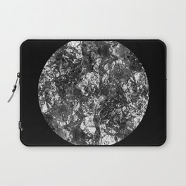 Silver Moon - Abstract, textured silver foil lunar design Laptop Sleeve