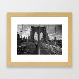 Bridge Lines Framed Art Print