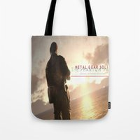metal gear solid Tote Bags featuring metal gear solid V  , metal gear solid V  games, metal gear solid V  blanket by Eirarose