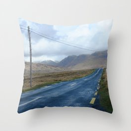 On the road.  Throw Pillow
