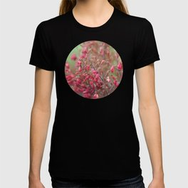 Blooming shrub hot pink flowers T-shirt