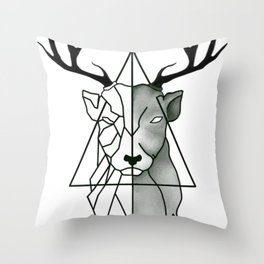black patronus Throw Pillow
