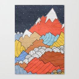 Rocky Mounts Canvas Print