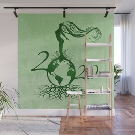 Mother Earth 2020 - Grunge Green Wall Mural