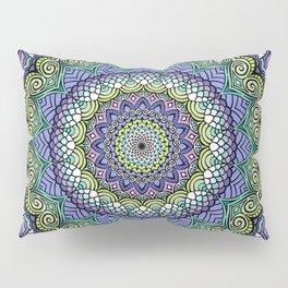 Purple n' Green Machine - Mandala Art Pillow Sham