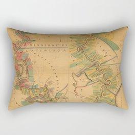 Map of Mississippi River 1858 Rectangular Pillow