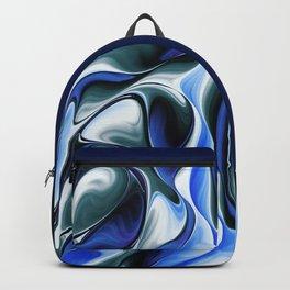 Blue Silk Gnarl Backpack