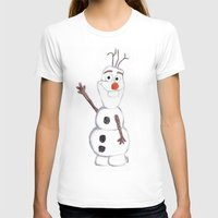 olaf T-shirts featuring olaf from frozen by Art_By_Sarah