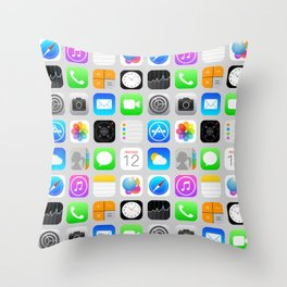 Phone Apps (Flat design) Throw Pillow