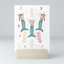 Synchronized Swimming Mini Art Print
