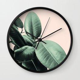 Ficus Elastica #24 #SummerVibes #foliage #decor #art #society6 Wall Clock