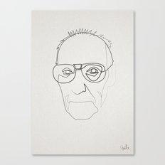 One line William Burroughs Canvas Print