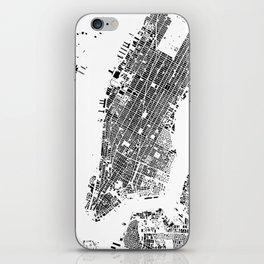 New York Map Schwarzplan Only Buildings iPhone Skin