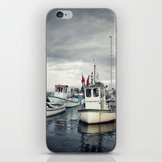 Harbored Fisher Boats iPhone & iPod Skin