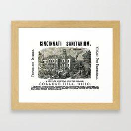 Cincinnati Sanitarium - A Private Hospital For the Insane  Framed Art Print