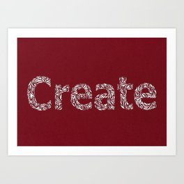 Create: Cut Paper Typography Art Print