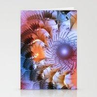 ferris wheel Stationery Cards featuring Ferris Wheel by Klara Acel