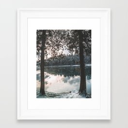 Winter Reflections Framed Art Print