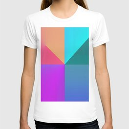Gradient background T-shirt
