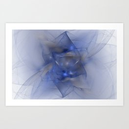 Folds in Blue N Gold Art Print