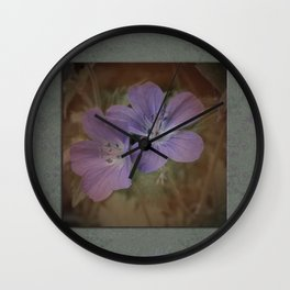 Antique Floral Wall Clock