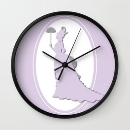 The Historical Fashion Plate Series: Victorian Lady Wall Clock