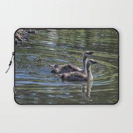Two Goslings Taking a Swim, No. 2 Laptop Sleeve