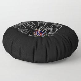 White stroke flower rainbow anthers Floor Pillow