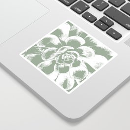 Sage Green Succulent Print Sticker