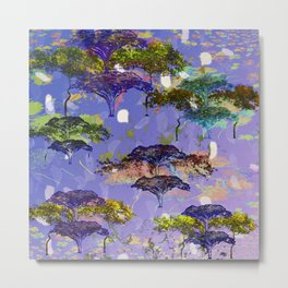 Acacia Abstract Metal Print