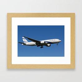 El Al Boeing 777 Framed Art Print