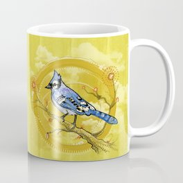 Blue Jay Iris Coffee Mug