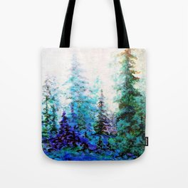 BLUE MOUNTAIN PINES LANDSCAPE Tote Bag