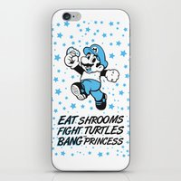 super mario iPhone & iPod Skins featuring super mario by POYCE