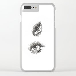 Eye of the Tigeress Clear iPhone Case