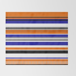 SSLICEE - Stripe, Lines, Orange, Fun, Summer, Clean Throw Blanket