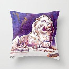 20170101 Stephen HSBC Lion Throw Pillow