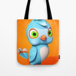 Toby Blue Bird Tote Bag