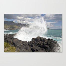 WAVES BEACH - SICILY Canvas Print