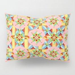Heraldic Pink Polka Dots Pillow Sham