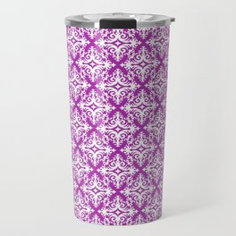 Damask (White & Purple Pattern) Travel Mug