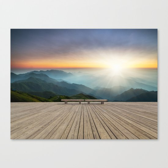 Wugong Mountain, China Canvas Print
