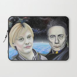 Katee Sackhoff and Edward James Olmos Laptop Sleeve