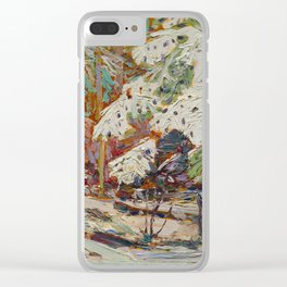 Tom Thomson Snow in the Woods Canadian Landscape Artist Clear iPhone Case