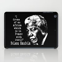 mandela iPad Cases featuring Mandela by PsychoBudgie